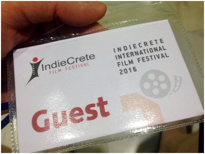 My festival pass, and my ticket to as much free Cretan cuisine and wine as I squeeze in – which turned out to be a fair bit!