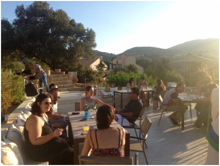 Photos I snapped at the welcome reception at Kalimera, Archanes Village