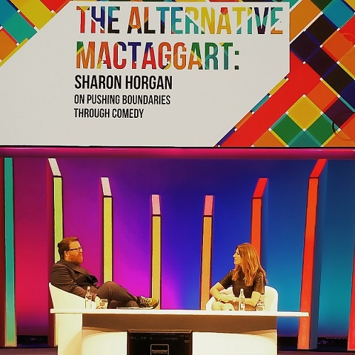 Sharon Horgan n conversation with Frankie Boyle at the Alternative MacTaggart