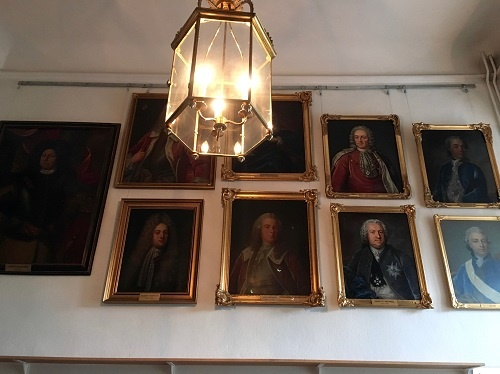 Portrait paintings lining the walls of Örebro Castle