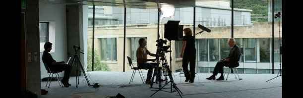 Media Co-op filming on location