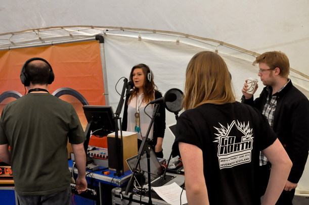 The trainees presenting live on Radio goNORTH